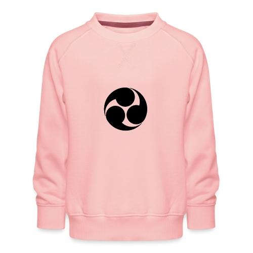 Kobayakawa Mon Japanese clan black - Kids' Premium Sweatshirt