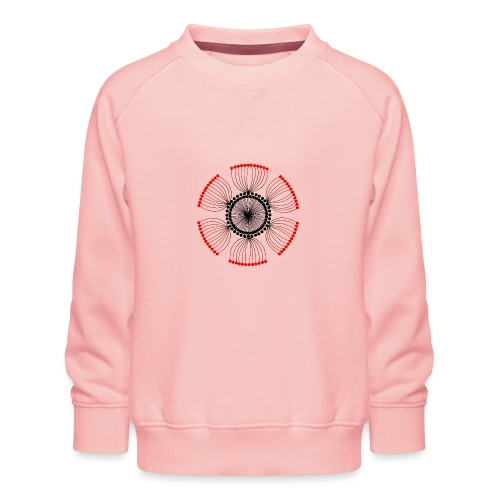 Red Poppy Seeds Mandala - Kids' Premium Sweatshirt