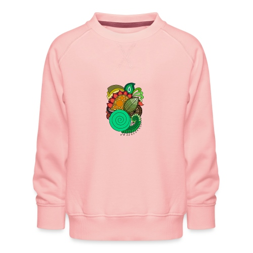 Coloured Leaf Mandala - Kids' Premium Sweatshirt