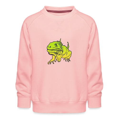 Leguan Reptil - Kinder Premium Pullover
