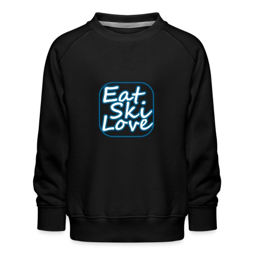 eat ski love - Kinderen premium sweater