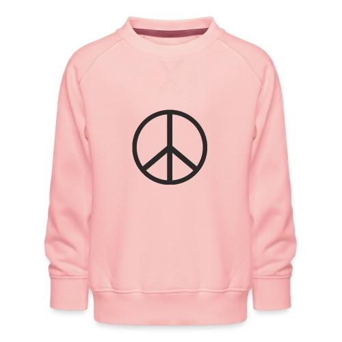 Símbolo de la paz negro - Sudadera premium para niños y niñas