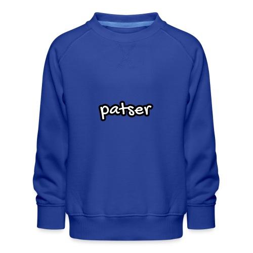 Patser - Basic White - Kinderen premium sweater