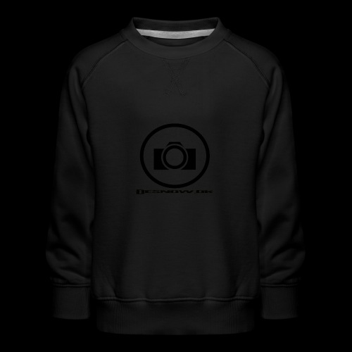 sort2 png - Børne premium sweatshirt