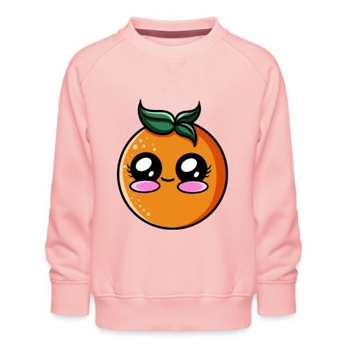 Orange Kawaii - Sweat ras-du-cou Premium Enfant
