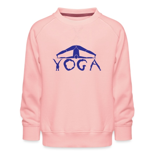 yoga yogi blu namaste pace amore hippie sport art - Felpa premium da bambini