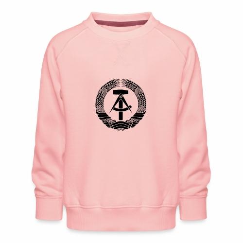 DDR Wappen (schwarz) - Kids' Premium Sweatshirt