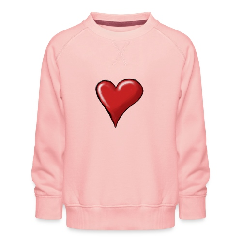 Love (coeur) - Sweat ras-du-cou Premium Enfant