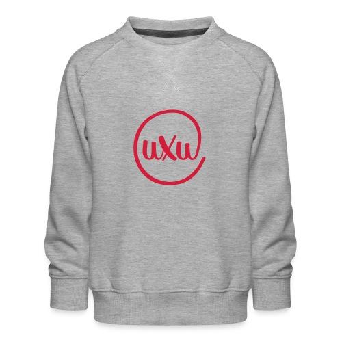 UXU logo round - Kids' Premium Sweatshirt