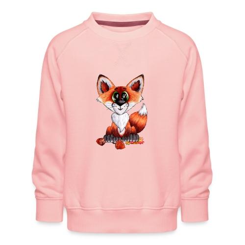 llwynogyn - a little red fox - Børne premium sweatshirt