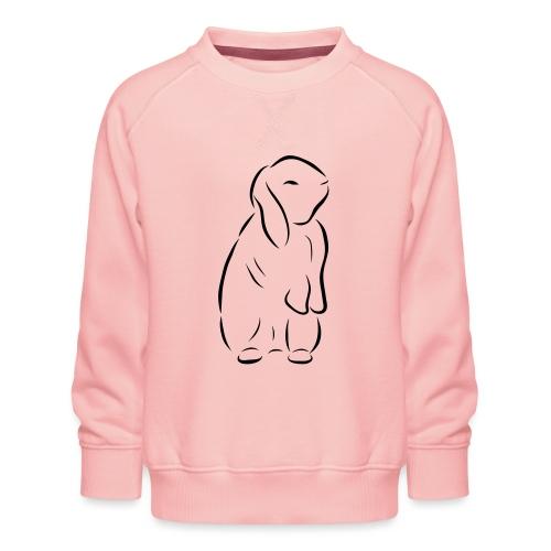 stehendes Häschen Hase Kaninchen Zwergkaninchen - Kinder Premium Pullover