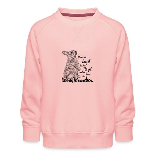 Kaninchen Hasen Zwergkaninchen Engel Liebe - Kinder Premium Pullover