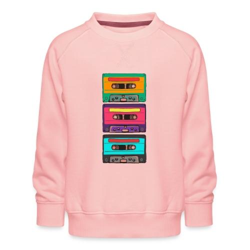 Colorful Cassettes row - Premiumtröja barn