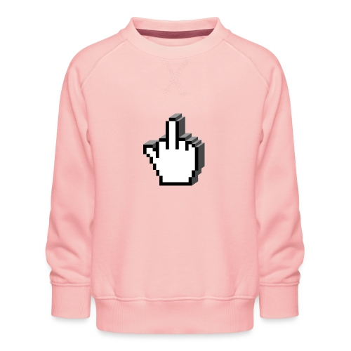 Middle_Finger_Design - Kids' Premium Sweatshirt
