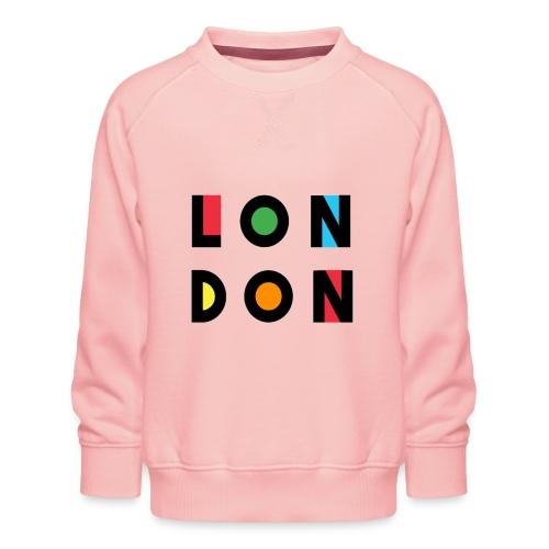 Vintage London Souvenir - Retro Modern Art London - Kinder Premium Pullover