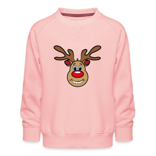 Ugly Christmas Weihnachten Xmas Rudi Reindeer - Kinder Premium Pullover