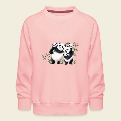 Pandafamilie drei Kinder - Kinder Premium Pullover