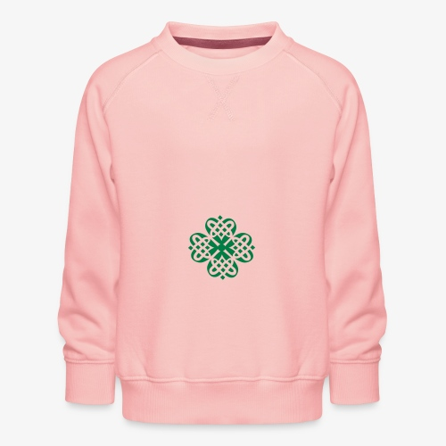 Shamrock Celtic knot decoration patjila - Kids' Premium Sweatshirt