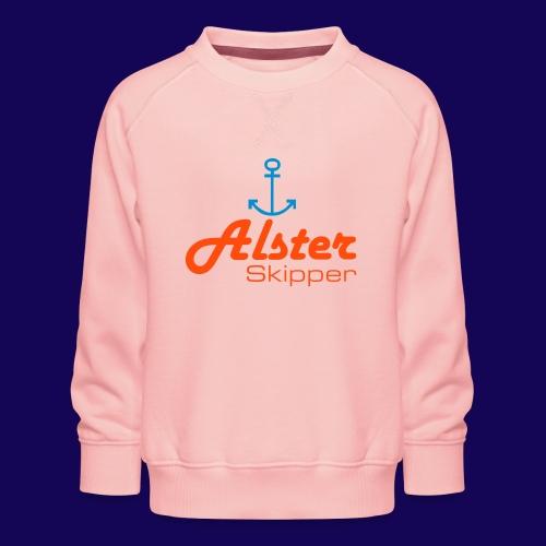 Hamburg maritim: Alster Skipper mit Anker - Kinder Premium Pullover