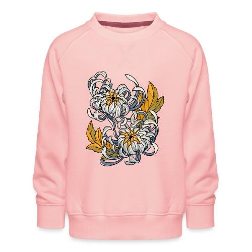 Chrysanthèmes enlacés - Sweat ras-du-cou Premium Enfant