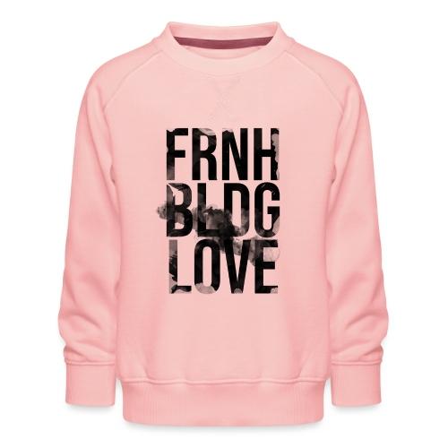 Französische Bulldogge Liebe wasserfarben - Kinder Premium Pullover