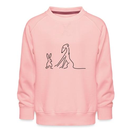 Galgo und Hase - Kinder Premium Pullover