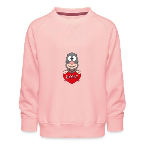 Lustiger Maulwurf - Herz - Liebe - Love - Fun - Kinder Premium Pullover