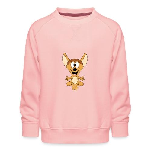 Lustige Hyäne - Yoga - Chillen - Relaxen - Fun - Kinder Premium Pullover