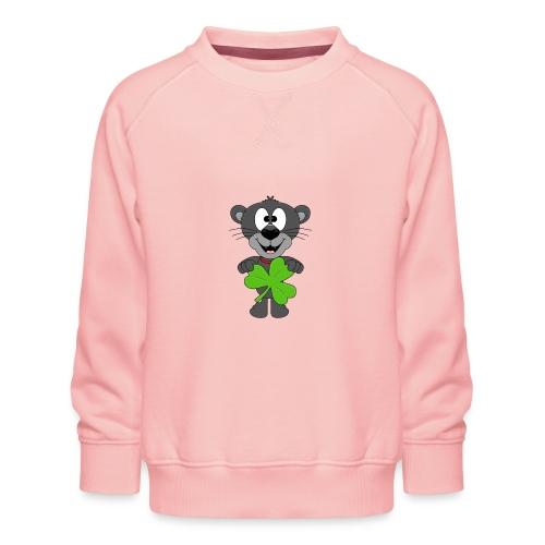 Lustiger Panther - Kleeblatt - Tier - Kids - Fun - Kinder Premium Pullover