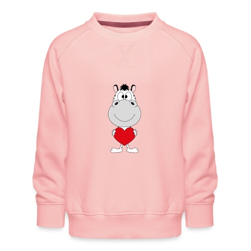 ZEBRA - HERZ - LIEBE - LOVE - TIER - KIND - BABY - Kinder Premium Pullover