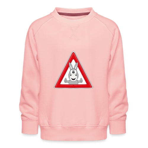 VORSICHT ESEL - TIER - TIERISCH - GESCHENKIDEE - Kinder Premium Pullover