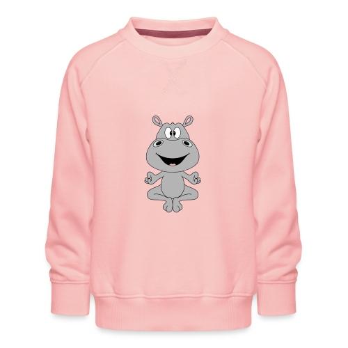 FLUSSPFERD - HIPPO - NILPFERD - YOGA - PILATES - Kinder Premium Pullover