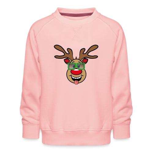 Weihnachten Rudi mit Brille - Kinder Premium Pullover
