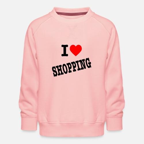 I Love Shopping (Ik Hou van Winkelen) - Kinderen premium sweater