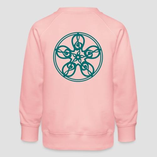 Treble Clef Mandala (teal) - Kids' Premium Sweatshirt