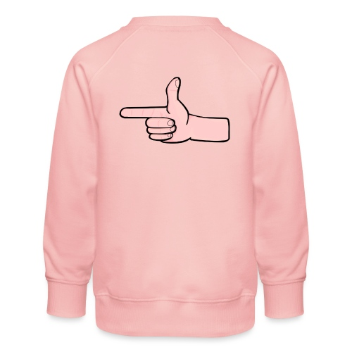 Winky Hand Pointing - Kids' Premium Sweatshirt