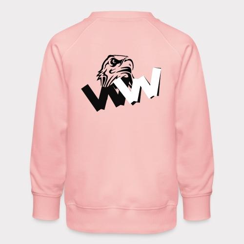 White and Black W with eagle - Kids' Premium Sweatshirt