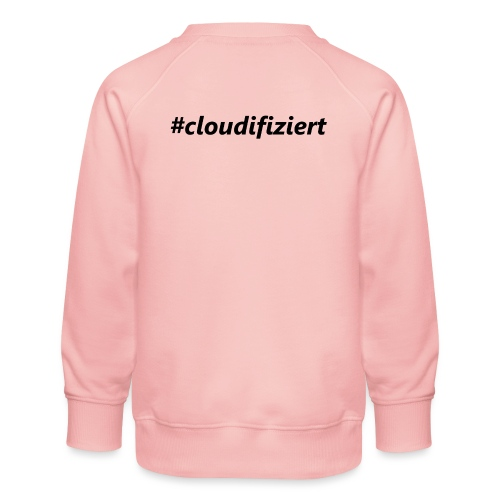 #cloudifiziert black - Kinder Premium Pullover