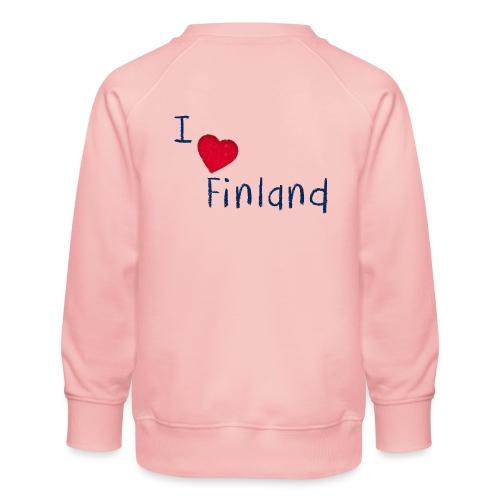 I Love Finland - Lasten premium-collegepaita