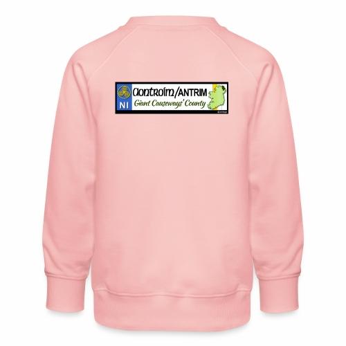 CO. ANTRIM, NORTHERN IRELAND licence plate tags - Kids' Premium Sweatshirt