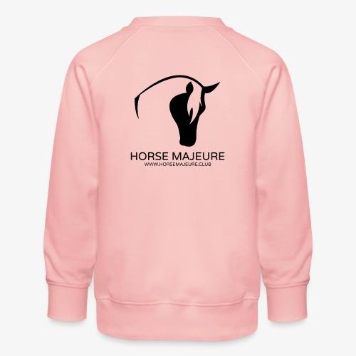 Horse Majeure Logo / Musta - Lasten premium-collegepaita