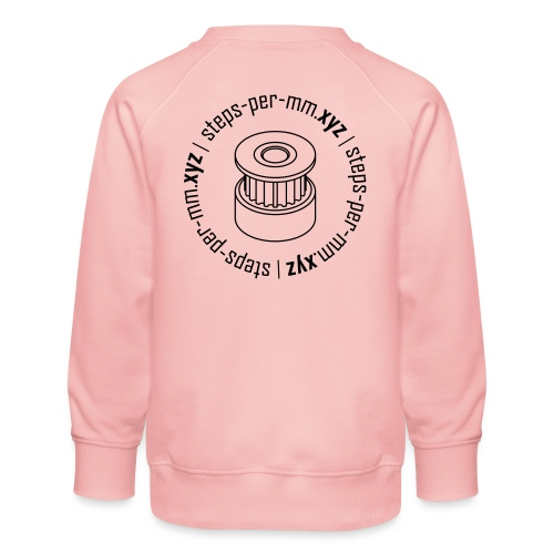 steps-per-mm Round Logo - Kids' Premium Sweatshirt