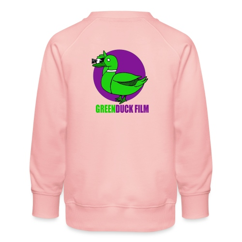 Greenduck Film Purple Sun Logo - Børne premium sweatshirt