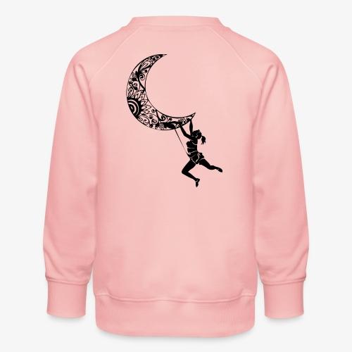 Climbing Woman Girl moon - Climber on the moon - Kids' Premium Sweatshirt