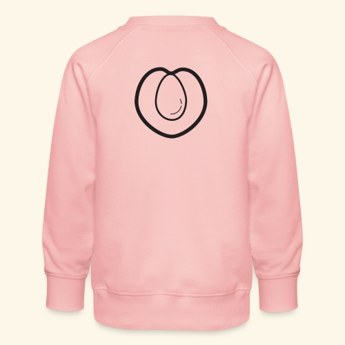 fruits and veggies icons peach 512 - Børne premium sweatshirt