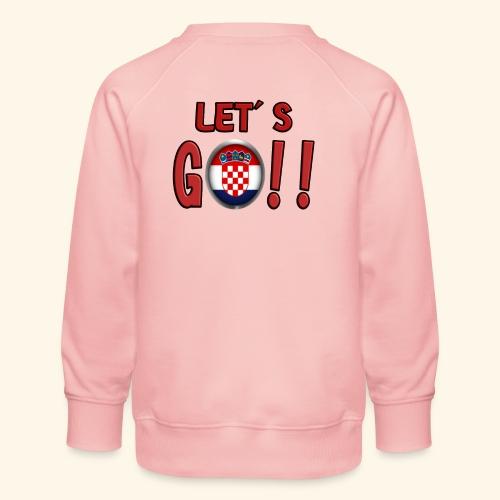 Go Croatia - Felpa premium da bambini
