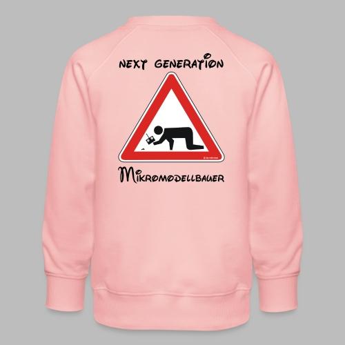 Warnschild Mikromodellbauer Next Generation - Kinder Premium Pullover