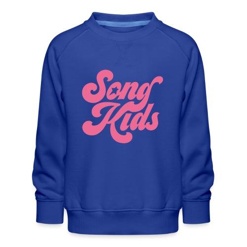 SongKids logo pink png - Kids' Premium Sweatshirt