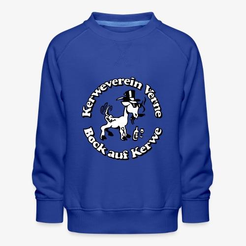 Kerwevereinslogo schwarz-weiss - Kinder Premium Pullover