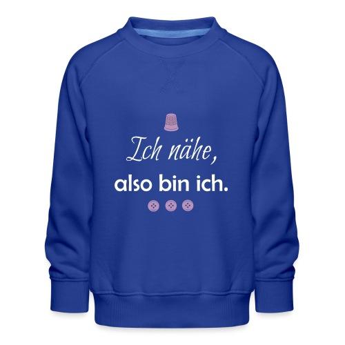 nähen stricken stoff muster wolle geschenk mama - Kinder Premium Pullover